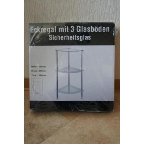 NEU in OVP: Badezimmer-Regal/ Badregal/ Eckregal/ Standregal Glas